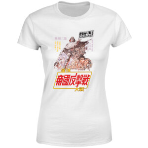 Star Wars Empire Strikes Back Kanji Poster Women's T-Shirt - White
