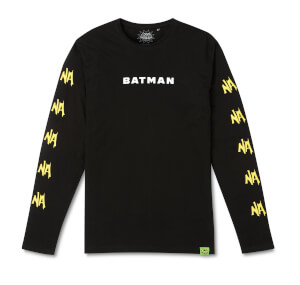 Batman Surf NA NA NA Surfs Up! Long Sleeved T-Shirt - Black