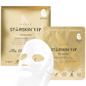 STARSKIN The Gold Mask VIP Revitalizing Luxury Bio-Cellulose Second Skin Face Mask 1.4 oz