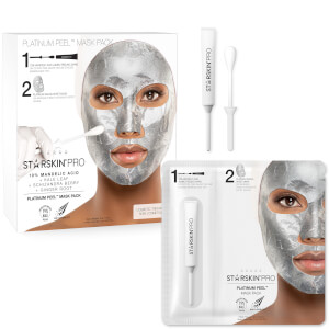 STARSKIN Pro Platinum Peel Mask Pack 10% Mandelic Acid + Kale Leaf + Schizandra Berry + Ginger Root 1.50 oz
