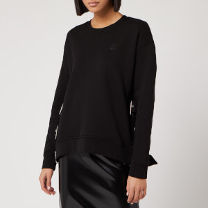 McQ Alexander McQueen Women's Belted Slouchy Sweatshirt - Darkest Black