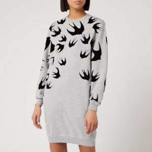 McQ Alexander McQueen Women's Classic Sweat Dress - Mercury Melange