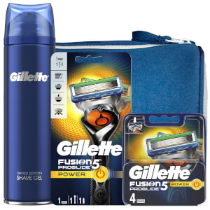 Fusion5 Men's ProGlide Power Bundle (Razor Handle, 4 Count Blade and Shave Prep 200ml)