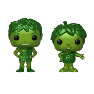 Green Giant e Sprout Metallizzati 2-Pack Figure Pop! Vinyl Esclusive