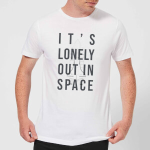 It's Lonely Out In Space Men's T-Shirt - White