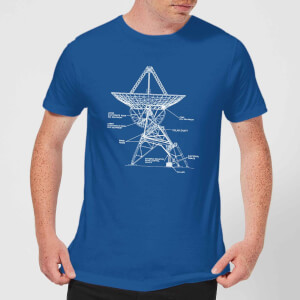 Satellite Schematic Men's T-Shirt - Royal Blue