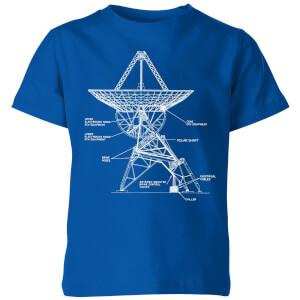 Satellite Schematic Kids' T-Shirt - Royal Blue