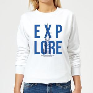 Explore Schematic Women's Sweatshirt - White