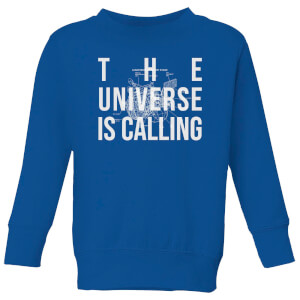 The Universe Is Calling Schematic Kids' Sweatshirt - Royal Blue
