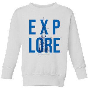 Explore Schematic Kids' Sweatshirt - White