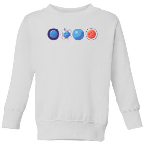 Planets Kids' Sweatshirt - White