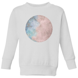 Colourful Moon Kids' Sweatshirt - White