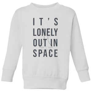 It's Lonely Out In Space Kids' Sweatshirt - White