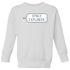 Space Explorer Kids' Sweatshirt - White