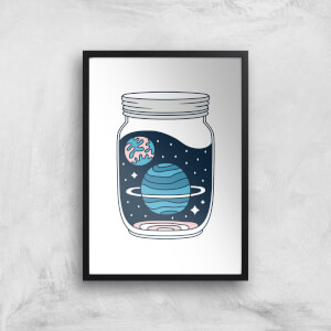 Space Jar Art Print