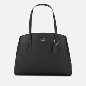 Coach Women's Polished Pebble Leather Charlie 40 Bag - Black