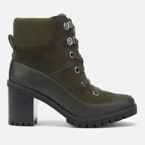 UGG Women's Redwood Lace up Heeled Boots - Black Olive