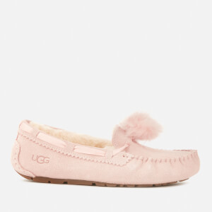 UGG Women's Dakota Pom Pom Moccasin Slippers - Quartz