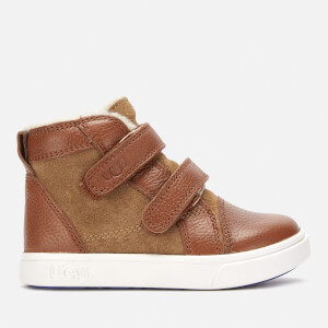 UGG Toddlers' Rennon II Hi-Top Trainers - Chestnut