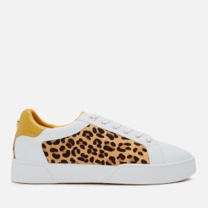 Dune Women's Ellenie S Leather Low Top Trainers - Yellow