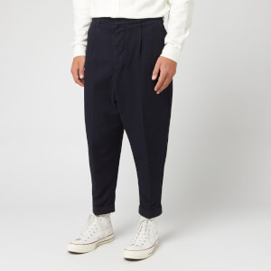 AMI Men's Carrot Fit Trousers - Marine