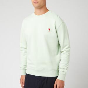 AMI Men's Heart Sweatshirt - Vert Pale
