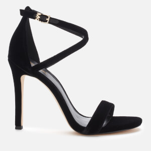 MICHAEL MICHAEL KORS Women's Antonia Velvet Heeled Sandals - Black