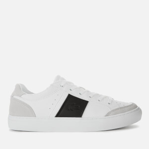 Lacoste Men's Courtline Leather and Suede Trainers - White/Black