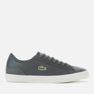 Lacoste Men's Lerond Leather And Suede Trainers - Dark Grey/Off White