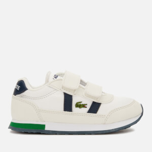 Lacoste Toddlers' Partner Velcro Trainers - Off White/Navy