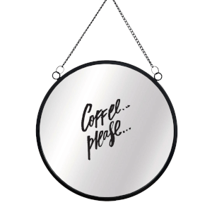 Coffee Please Circular Mirror