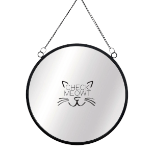 Check Meowt Circular Mirror