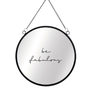 Be Fabulous Circular Mirror