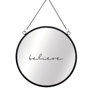 Believe Circular Mirror