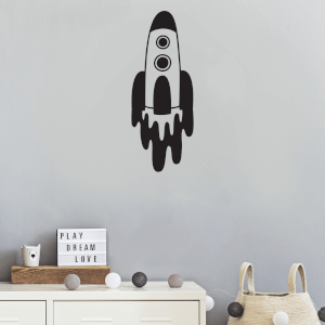 Rocket Wall Art Vinyl