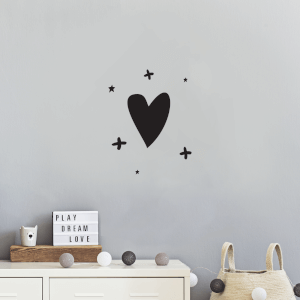 Hearts And Crosses Wall Decal