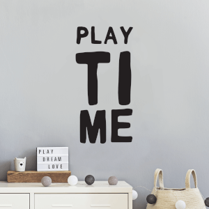 Play Time Wall Decal