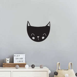 Cat Head Wall Decal