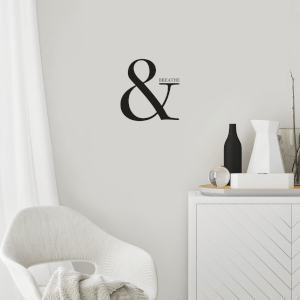 & Breathe Wall Decal
