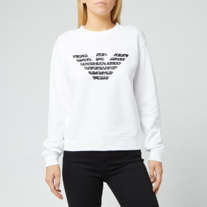 Emporio Armani Women's Eagle Logo Sweatshirt - White