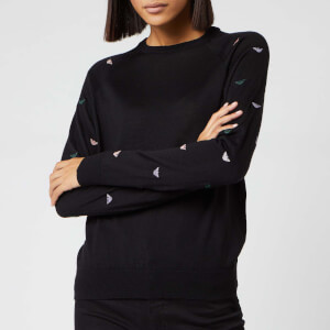 Emporio Armani Women's Eagle Logo Knitted Jumper - Black