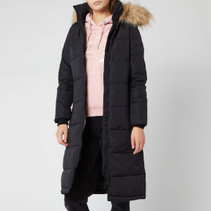 Superdry Women's Longline Quilted Everest Jacket - Black