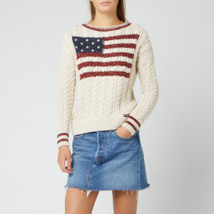 Superdry Women's American Intarsia Knit Jumper - Winter White