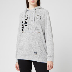 Superdry Women's Supersoft Oversized Graphic Hoodie - Grey Marl