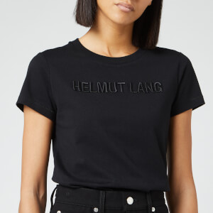 Helmut Lang Women's Raised Embroidered Standard T-Shirt - Black Basalt