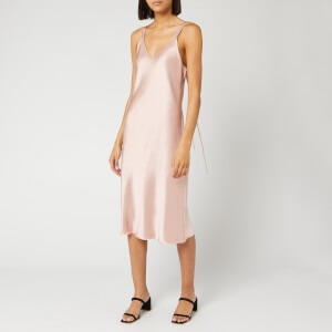Helmut Lang Women's Double Strap Satin Slip Dress - Sorbet