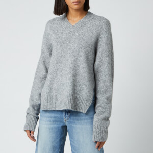 Helmut Lang Women's Brushed V Neck Jumper - Ash