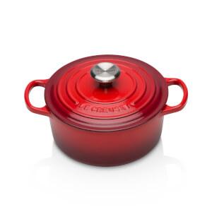 Le Creuset Signature Cast Iron Round Casserole Dish - 18cm - Cerise