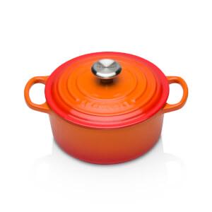 Le Creuset Signature Cast Iron Round Casserole Dish - 18cm - Volcanic