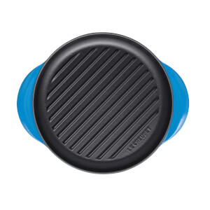 Le Creuset Signature Cast Iron Round Grill - 25cm - Marseille Blue
